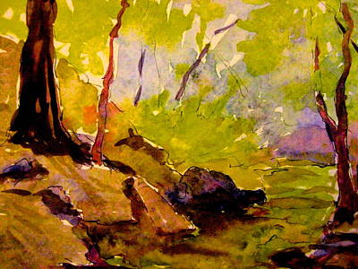 Painting - Abstract Creek In Woods by Gretchen Allen