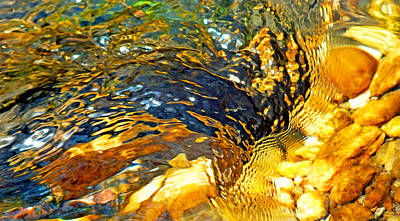 Photograph - Abstract Creek Water 1 by Duane McCullough