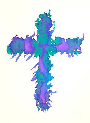 Abstract Cross Art Print by Pattie Calfy