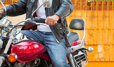 Photograph - Abstract Cruiser Rider by Kantilal Patel