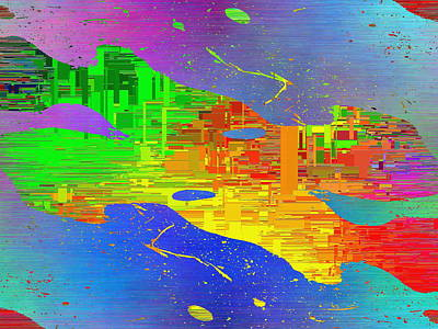 Abstract Cubed 11 Art Print by Tim Allen