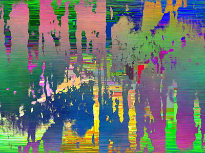 Abstract Cubed 111 Art Print by Tim Allen