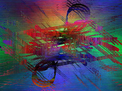 Abstract Cubed 71 Art Print by Tim Allen