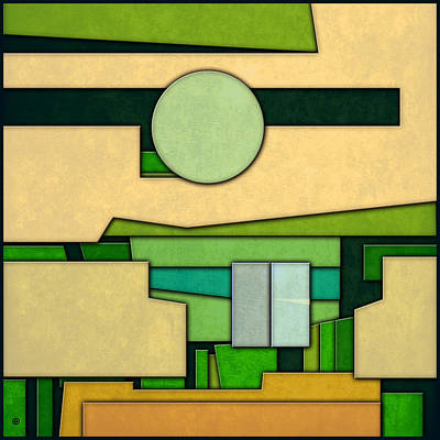 Abstract Cubist Three Art Print by Gary Grayson