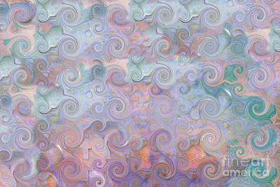 Digital Art - Abstract - Curlicues by Liane Wright