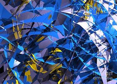 Digital Art - Abstract Curvy 12 by Russell Kightley