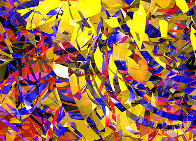 Digital Art - Abstract Curvy 14 Celebration by Russell Kightley