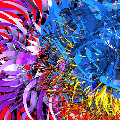 Digital Art - Abstract Curvy 20 by Russell Kightley