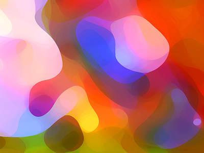 Red Abstract Digital Art - Abstract Dappled Sunlight by Amy Vangsgard