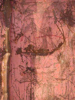 Photograph - Abstract Dented Pink Metal 2 by Anita Burgermeister