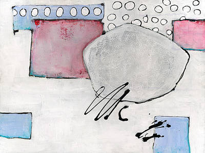 Textural Painting - Abstract Design Horizon by Blenda Studio
