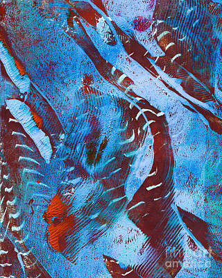 Printmaking Mixed Media - Abstract Design by Laura L Leatherwood