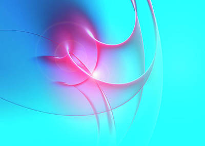 Blue Background Digital Art - Abstract Digitally Generated by Aeriform