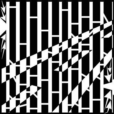 Drawing - Abstract Distortion Driving Road Maze  by Yonatan Frimer Maze Artist