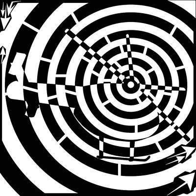 Abstract Distortion Helicopter Maze Art Print by Yonatan Frimer Maze Artist
