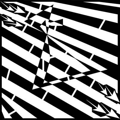 Abstract Distortion Hour-glass Maze  Art Print by Yonatan Frimer Maze Artist