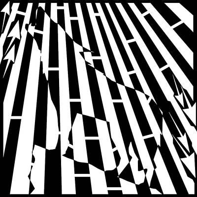 Abstract Distortion Howling Wolf Maze  Art Print by Yonatan Frimer Maze Artist