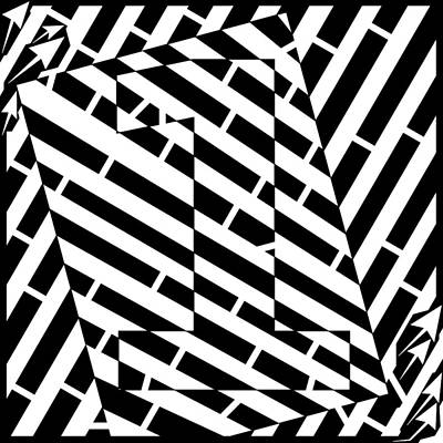 Abstract Distortion Number One Maze Art Print by Yonatan Frimer Maze Artist