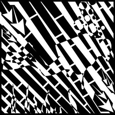 Sports Maze Drawing - Abstract Distortion Scooba Diver Maze by Yonatan Frimer Maze Artist