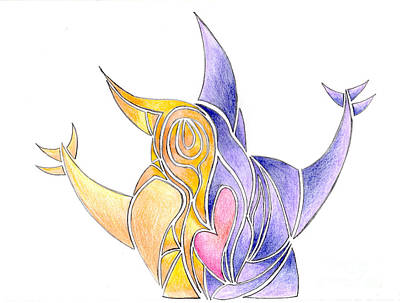 Colorful Abstract Drawing - Abstract Drawing By Ray by Minding My  Visions by Adri and Ray