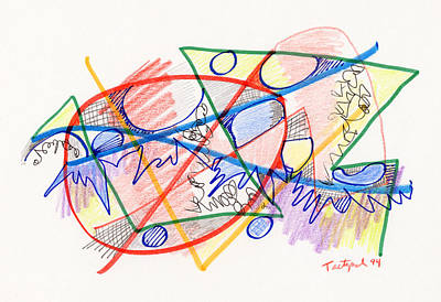 Non-objective Drawing - Abstract Drawing Eight by Lynne Taetzsch