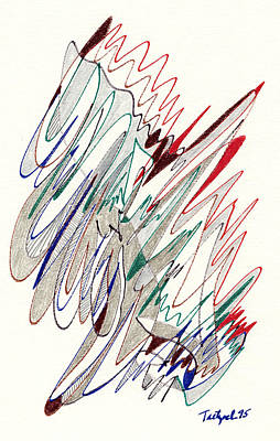 Abstract Drawing Fifty-one Art Print by Lynne Taetzsch