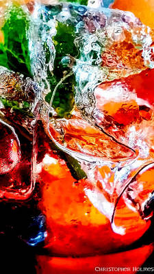 Photograph - Abstract Drink by Christopher Holmes
