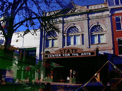 Abstract - Easton Pa - State Theater Center For The Arts Art Print by Jacqueline M Lewis