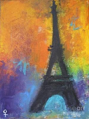 Xxi Art Mixed Media - Abstract Eiffel Tower by Venus