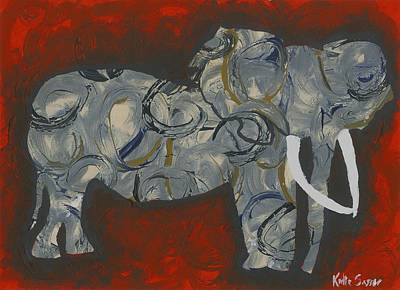 Painting - Abstract Elephant by Katie Sasser