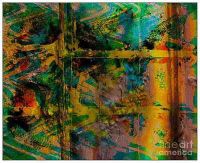 Abstract - Emotion - Facade Art Print by Barbara Griffin