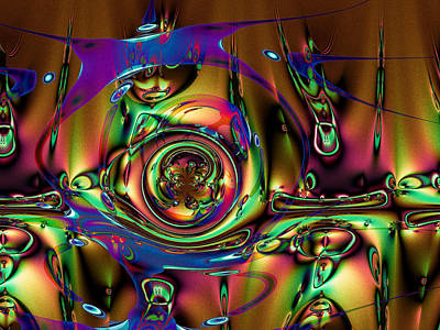 Digital Art - Abstract Entertainment by Kiki Art
