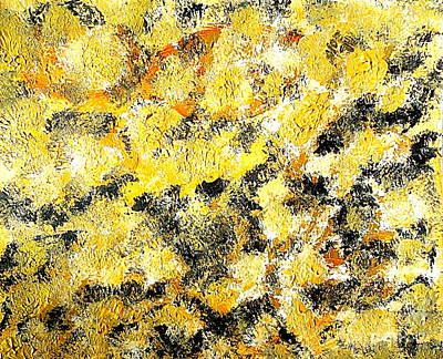 Painting - Abstract Eternity Gold Rush 1 by Richard W Linford