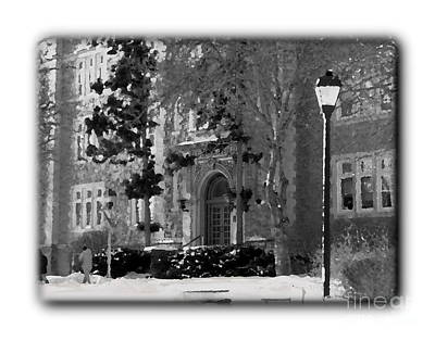 Photograph - Abstract Ettinger - Bw - Border by Jacqueline M Lewis