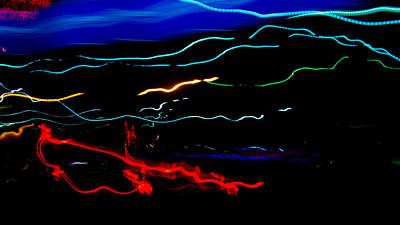 Abstract Evening Lights 2 Art Print by Chase Taylor