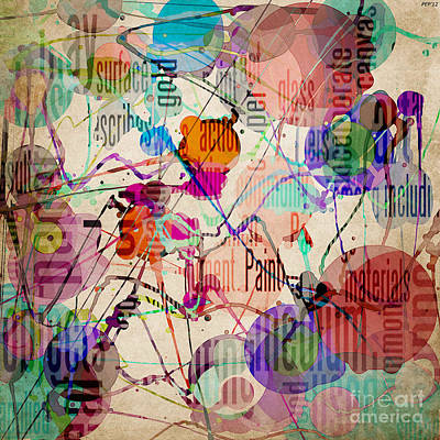 Print featuring the digital art Abstract Expressionism by Phil Perkins