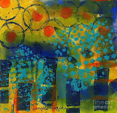 Painting - Abstract Expressions - Background Art by Angela L Walker