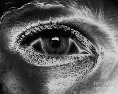 Drawing - Abstract Eye by Tlynn Brentnall