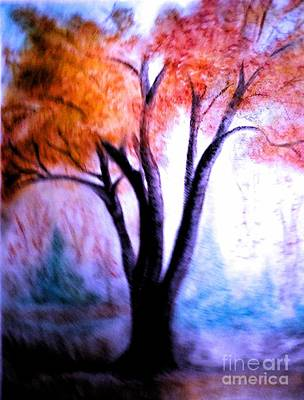 Pastel - Abstract Fall by Christina A Pacillo