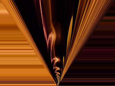 Digital Art - Abstract Fire Three by Kathy K McClellan