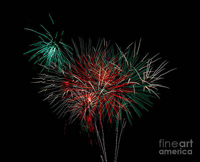 Purple Fireworks Photograph - Abstract Fireworks by Robert Bales
