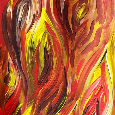Free Painting - Abstract Flames by Irina Sztukowski