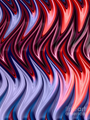 Abstract Shapes Digital Art - Abstract Flames by John Edwards