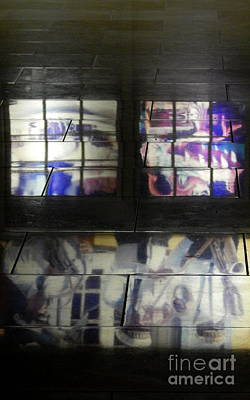 Photograph - Abstract Floor Mural by Michael Hoard