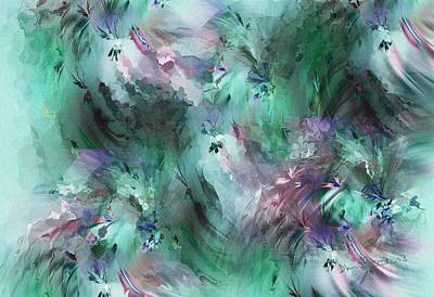 Digital Art - Abstract Floral 012113 by David Lane