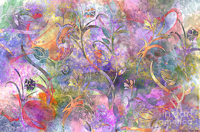 Abstract Floral Designe  Art Print by Debbie Portwood