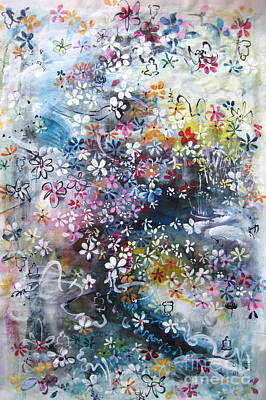Abstract Flower Art Original by Seon-Jeong Kim