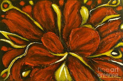 Abstract Flower Art Print by Elena  Constantinescu