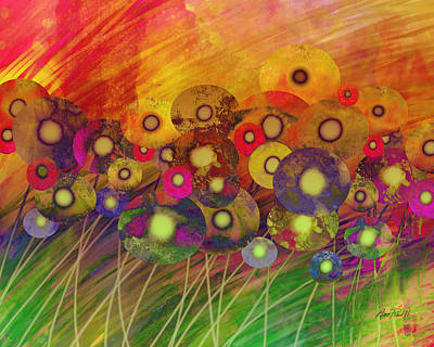 Painting - Abstract Flower Garden Fantasy - Abstract Art by Ann Powell
