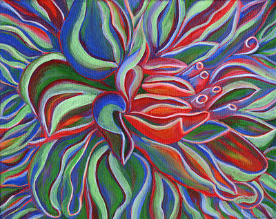 Painting - Abstract Flower by Janice Dunbar